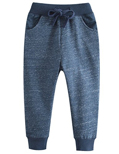 Dola-Dola Boys Harem Pants Cotton Toddlers Sport Jogger Baby Kids Trousers (3T, NavyBlue) -