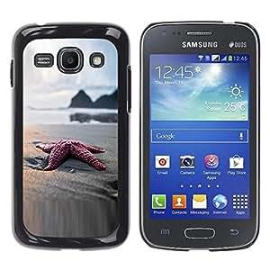 Be Good Phone Accessory // Dura Cáscara cubierta Protectora Caso Carcasa Funda de Protección para Samsung Galaxy Ace 3 GT-S7270 GT-S7275 GT-S7272 // Beach Star Sand Ocean Bokeh