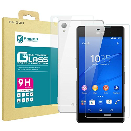 Sony Xperia Z3 Tempered Glass Screen Protector - 5