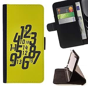 For Sony Xperia Style T3 Case , Tipografía Funky reloj amarillo- la tarjeta de Crédito Slots PU Funda de cuero Monedero caso cubierta de piel