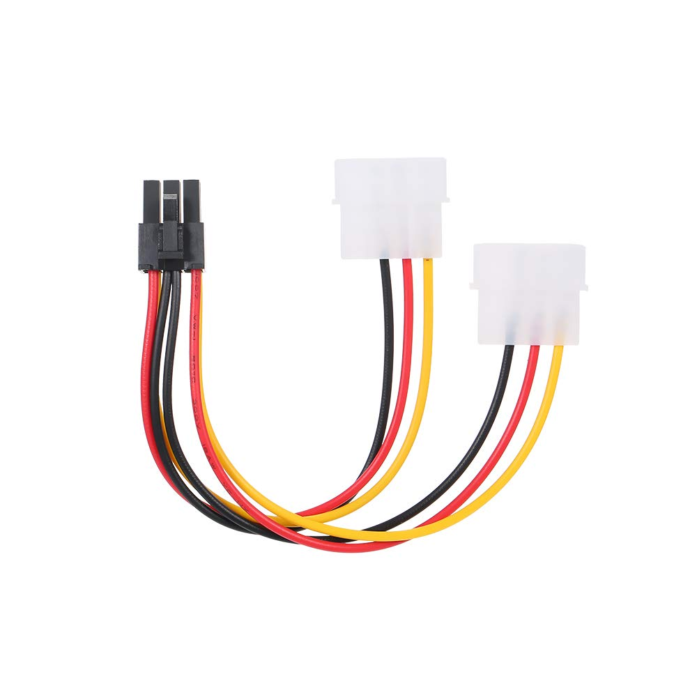Grborn 4p to 6p Power Cable Graphics Video Card 4 Pin Molex to 6 Pin PCI-Express PCIE Power Supply Cable Cord