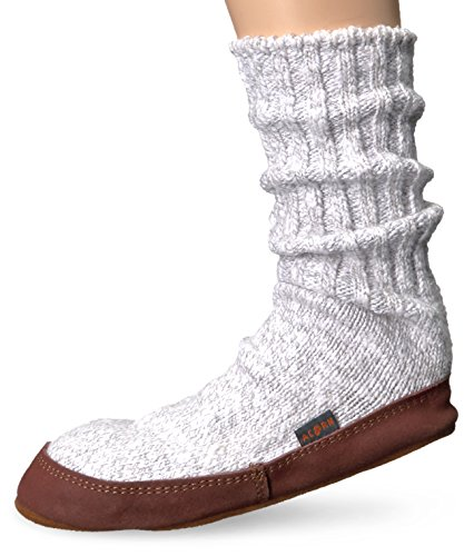 Pantofola Pantofola In Ghianda Unisex In Cotone Grigio Chiaro