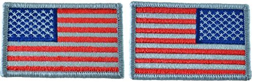 Tactical USA Flag Patch and Reverse USA Flag Patch - Subdued