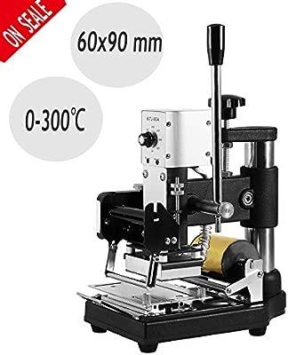 Autovictoria Hot Foil Stamping Machine Máquina de Estampado Manual de Volquete Bronzing Para PVC Tarjeta de Crédito de Identificación con Papel de ...