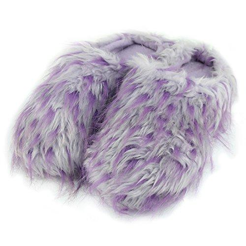 Forfoot Damessoftfleece Winter Warm Indoor House Fashion Laarzen Pantoffels Licht Pluche Paars