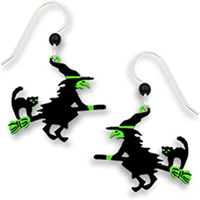 Witch  Flying Broomstick Earrings