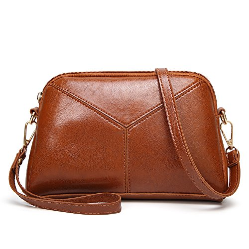 Handbags Leather Bag Bags Vintage Small Phone Ladies Shoulder Handbag INAYNER Purse Crossbody Brown Shell x6fwYY