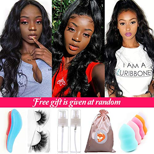 Deep Part Human Hair Wigs for Black Women Frontal Lace Wigs Brazilian Body Wave Lace Front Wigs with Baby Hair Pre-Plucked Hairline Natural Hair Wigs 100% Unprocessed Brazilian Virgin Human Hair Wigs