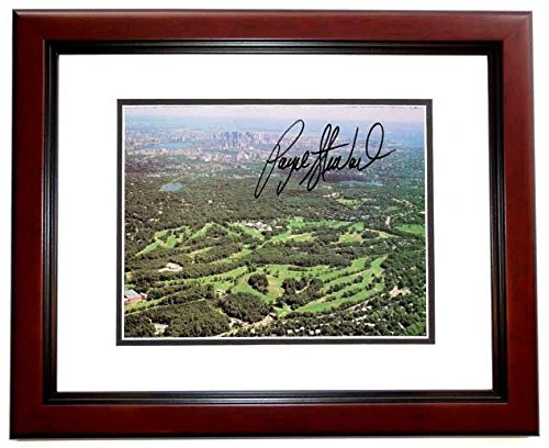 Payne Stewart Signed Photo - Course 5x7 inch MAHOGANY CUSTOM FRAME - - Deceased 1999 Guaranteed to pass or JSA - PSA/DNA Certified