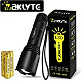 Waklyte Tactical Flashlight with Memory Function, S04D LED Flashlight, High Lumen, Super Bright, Military Grade Handheld Tac Light for Hiking, Camping, Travel, Emergency and EDC (Battery Included)