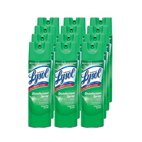 Lysol Disinfectant Spray, Country Scent (19 oz.) 12 Pack X 3 by *Lysol