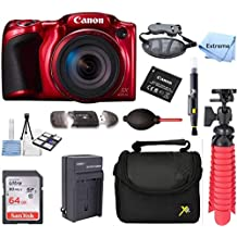 Canon PowerShot SX420 is 20MP 42x Optical Zoom Digital Camera Red +NB-11L Spare Batteries + Accessory Bundle