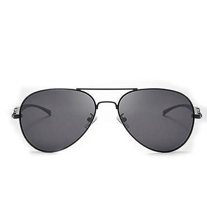 Sakuldes Gafas de Sol de conducción polarizadas Classic Military Aviator UV400 para Hombre (Color :