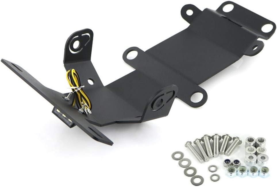 Universal For XSR700 2015 2016 2017 2018 2019 2020 Tail Tidy Fender Eliminator kit License Plate Holder Bracket XSR 700 2015-2020 Quality Color : Black