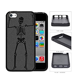 Happy Halloween Skeleton Rubber Silicone TPU Cell Phone Case Apple iPhone 5c