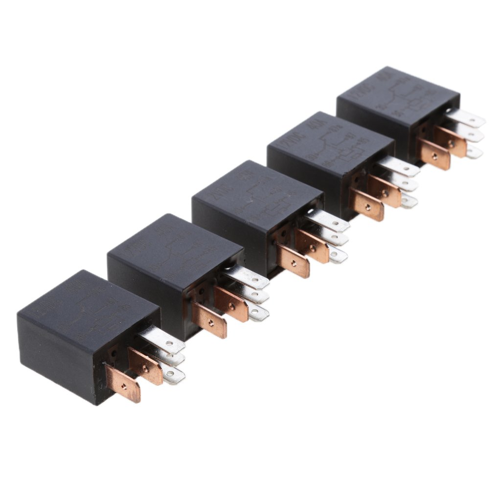 MonkeyJack 5pcs 12V 30A Micro Relay 5 PIN Automotive Change Over Changeover Contact