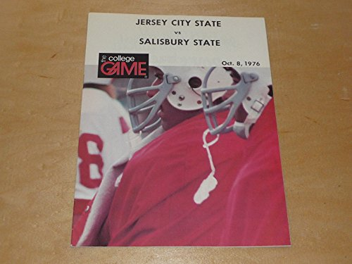 1976 SALISBURY STATE ( MD) AT JERSEY CITY STATE COLLEGE FOOTBALL PROGRAM -