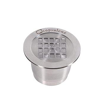 Richer-R Cápsulas Filtros de Café, Filtros de Acero Inoxidable Reutilizable,kit de Filtro de Café Lavable con Cepillo de Limpieza y Cuchara de ...
