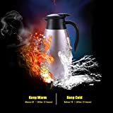 Merimos 68 Oz Stainless Steel Coffee Carafe, Double Wall Vacuum Insulated Thermal Carafe for Tea Coffee Milk Fruit Juice, 2 Liter Water Pitcher with Lid