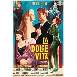 FELLINI'S LA DOLCE VITA movie poster BEAUTIFUL PAINTING scenes 24X36 (reproduction, not an original)