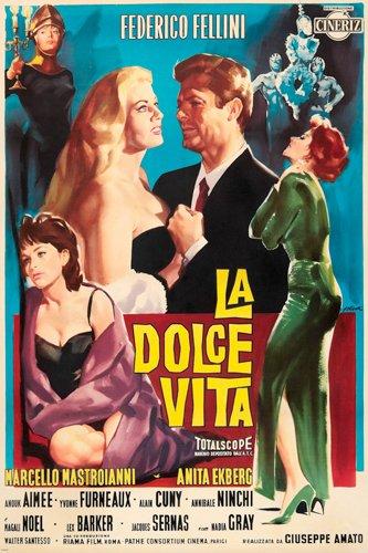 FELLINI'S LA DOLCE VITA movie poster BEAUTIFUL PAINTING