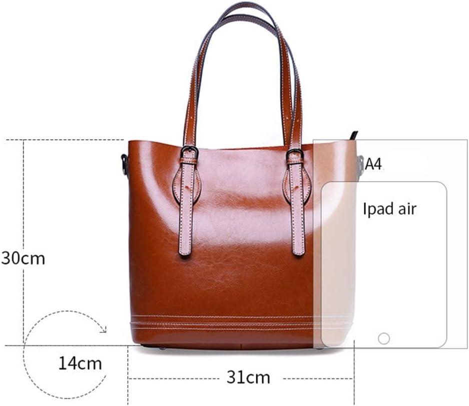 Xiaochou@sl Neue Art- und Weiseeinfache Multifunktionsgroße Kapazitäts-Umhängetasche Schulter Slung Lederhandtasche Größe: 31 * 14 * 30cm (Farbe : Purple) Black