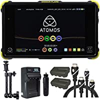 Atomos Shogun Flame 7 4K Recorder Monitor, Battery, Charger, Caltar 7 Articulating Magic Arm, HDMI A-D Basic 3 Cable and HDMI A-C Basic 3 Cable