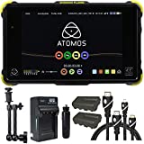 Atomos Shogun Flame 7'' 4K Recorder Monitor, Battery, Charger, 7'' Articulating Magic Arm, HDMI A-D Basic 3' Cable and HDMI A-C Basic 3' Cable