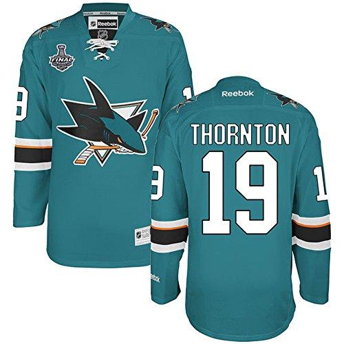 NHL San Jose Sharks 19 Joe Thornton Men's Premier Jersey 2016 Teal color Size XL