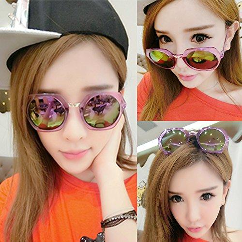 nouveau cycle des lunettes de soleil madame le visage rond korean rétro - yeux star des lunettes des lunettes de soleil la maréela boîte noire de l'or film (sac) HDs8T