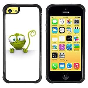 Suave TPU GEL Carcasa Funda Silicona Blando Estuche Caso de protección (para) Apple Iphone 5C / CECELL Phone case / / Reptile Lizzard Green Nature Animal Cartoon Art /