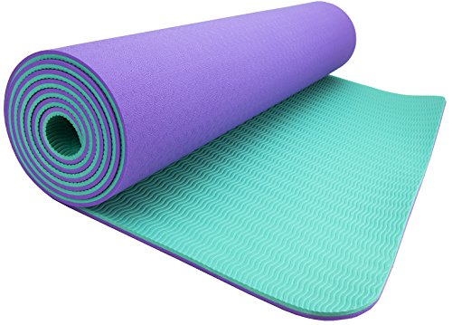 Wacces High Density Anti Tear Non Slip Double Sided YOGA MAT with Carrying Strap