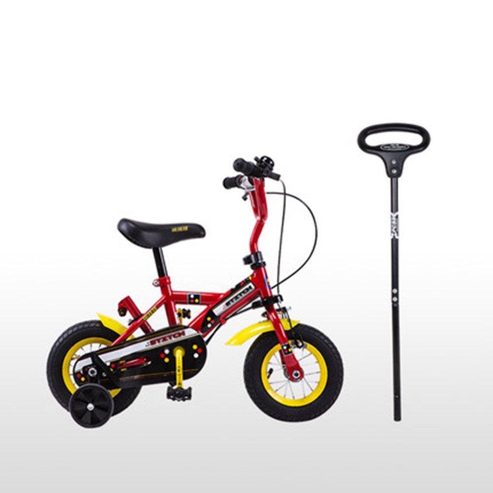 HAIZHEN マウンテンバイク 子供用自転車10-12インチ子供用自転車赤ちゃんプッシュロッド車1-2歳の子供男性と女性のベビーカー 新生児 B07CG2NJDJRed -12 inch
