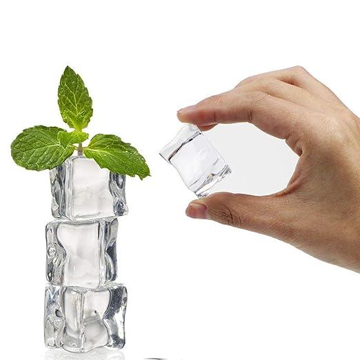 VORCOOL 50/Unidades Cube Paper24/Forma Cristal Brillo Cubitos de Hielo Falso Artificial acr/ílico Cubitos de Hielo Transparentes fotograf/ía Requisiten Cocina Decor de 20/mm