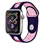 CSSD Cool Silicone Bracelet Watch Bands Wrist Straps for Apple Watch Series 4 40mm (E, S)