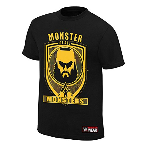 WWE Braun Strowman Monster Of All Monsters Youth Authentic T-Shirt Black Medium by WWE Authentic Wear