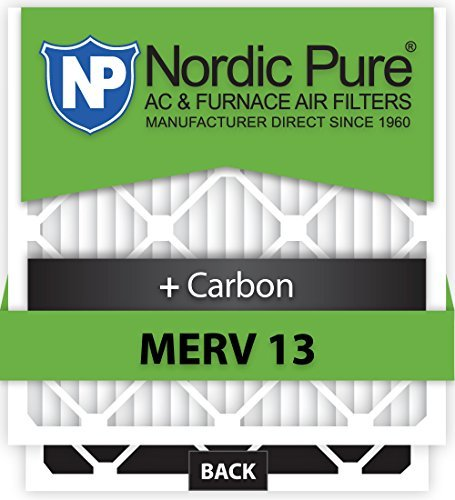 Nordic Pure 16x25x5L1M132 Lennox X6670 Replacement MERV 13 Plus Carbon AC Furnace Air Filters, Qty-2 by Nordic Pure