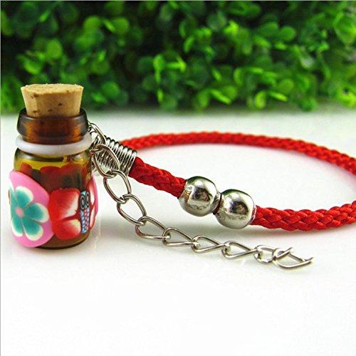 Bracelet half pack clay bottle essential oil 0.5 perfume bottle bracelet dispensing vials lanugo pendant ornaments