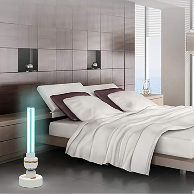 Luz desinfectante portátil/luz de desinfección UV/lámpara Ultravioleta germicida, Purificador de Aire/Eliminación de formaldehído/Antibacteriano, 99%, ...