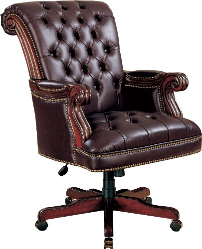 - Coaster Home Furnishings Adjustable Height Office Chair Dark Brown