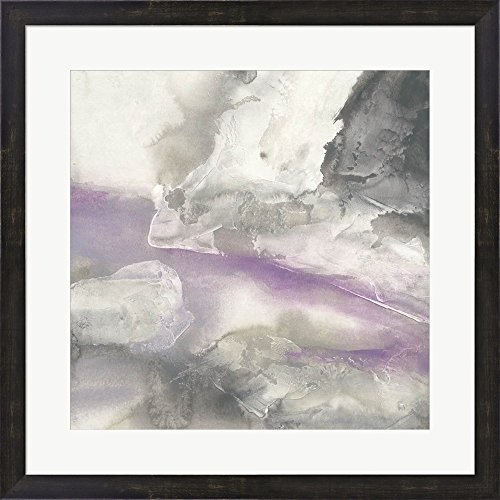 Shades of Amethyst II by Chris Paschke Framed Art Print Wall Picture, Espresso Brown Frame, 25 x 25 - Brown Shades Chris