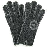 "Alpaca Gloves ""Florcita"" Hand Crocheted Fair Trade Bolivia 100% Alpaca - Charcoal"