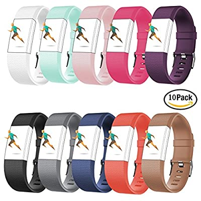 For Fitbit Charge 2 Bands,CreatGreat Silicone Replacement Band for Charge 2/Fitbit Charge 2 Band/Fitbit Charge 2