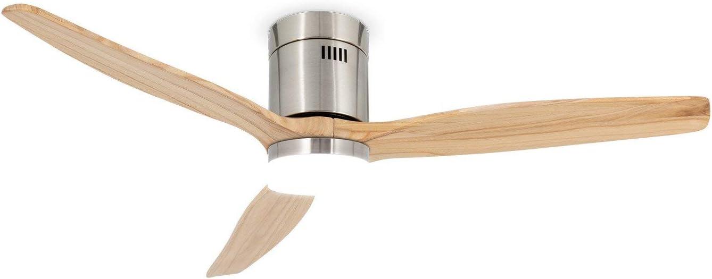 IKOHS LIGHTCALM Nickel - Ventilador de Techo 40W DC Reverse con Luz