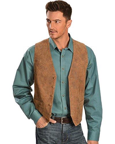 Scully Men's Lamb Leather Western Vest Maple 52 - Lamb Vest Leather
