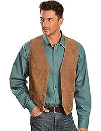 Men's Lamb Leather Western Vest - 503-221
