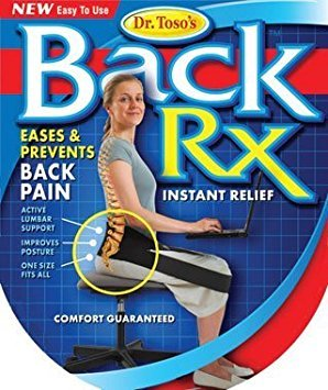 Nada Chair Dr. Toso's BackRX Portable Back Support Belt for Posture Improvement - One Size Fits All (Stuffing Online Pillow Buy)