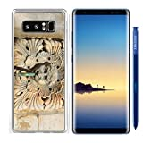 Luxlady Samsung Galaxy Note8 Clear case Soft TPU Rubber Silicone IMAGE ID: 34255883 Fountain ornamental fragment