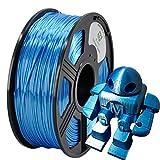 YOYI Silk Like Polymer Composite Blue 1KG 1.75mm Polymer 3D Printer Filament, Diameter Tolerance +/- 0.05 mm, 1 KG Spool, 1.75 mm, Silk Like Filament Blue