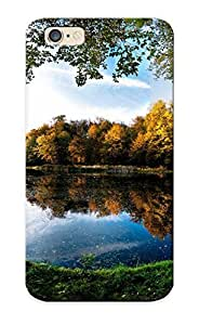 Mooseynmv Design High Quality Landscapes Trees Autumn (season) Leaves Pond Frames Lakes Cover Case With Excellent Style For Iphone 6